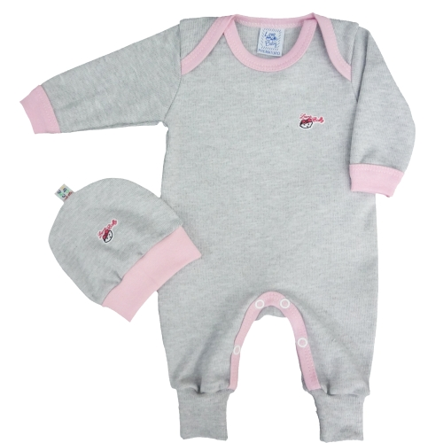 Pijama Longo com Pé Reversível e Gorro